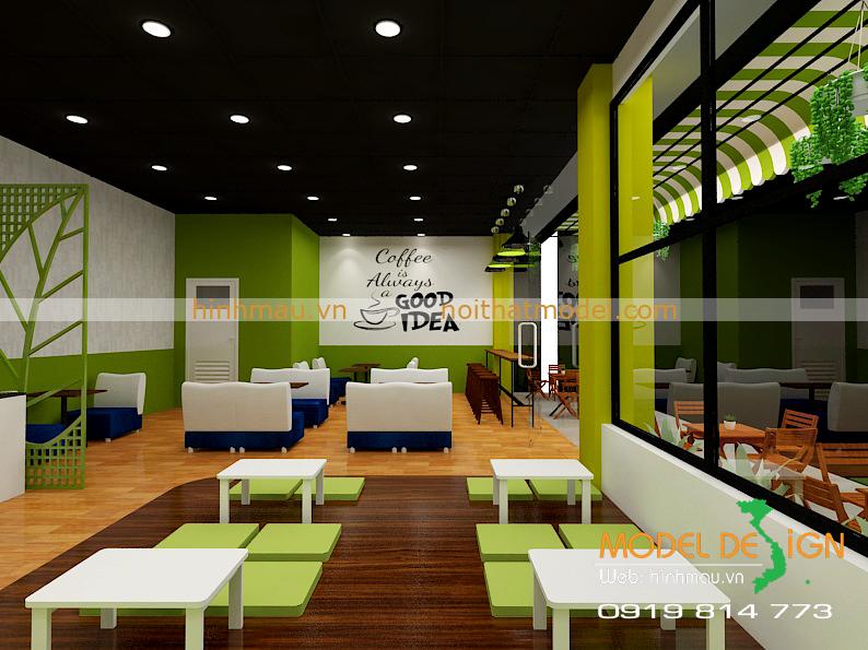 thiết kế quán cà phê bệt