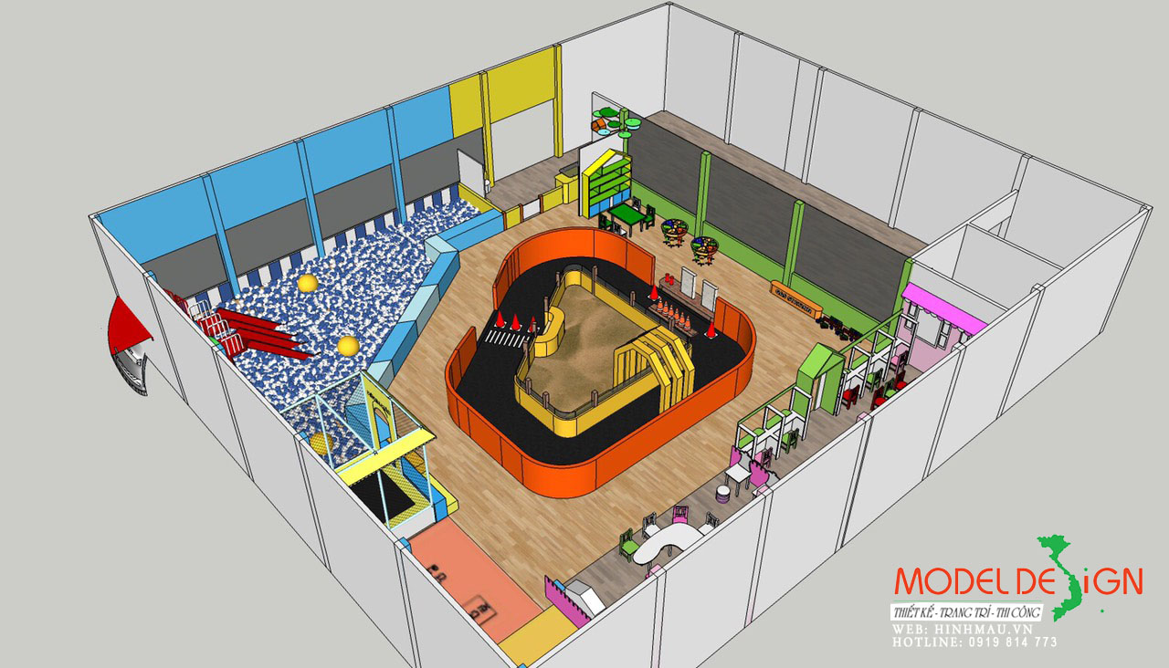 Thiết kế khu vui chơi ở Bình Phước