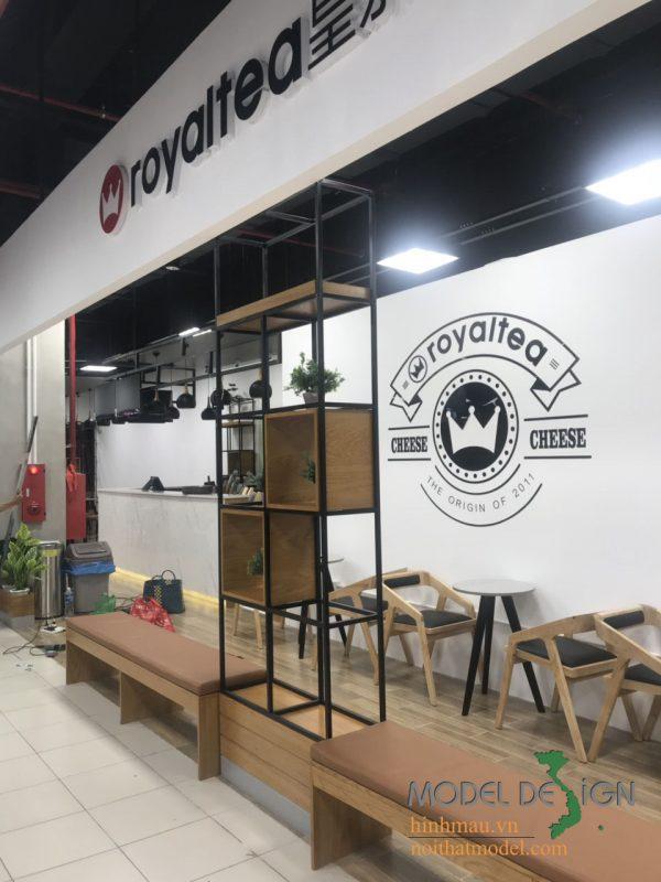 Thiết kế quán cafe Royaltea tại TPHCM