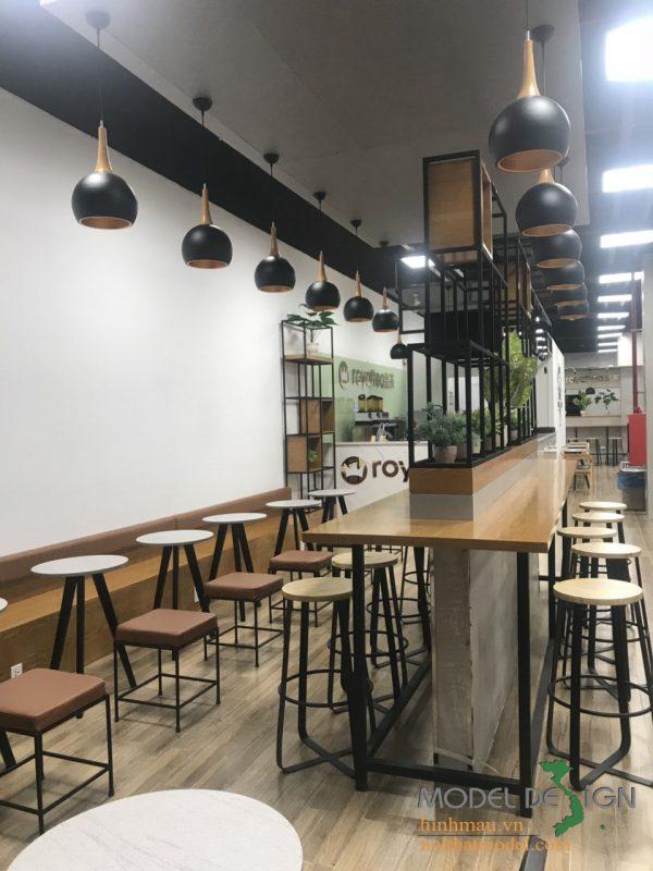Thiết kế quán trà sũa Royaltea TPHCM