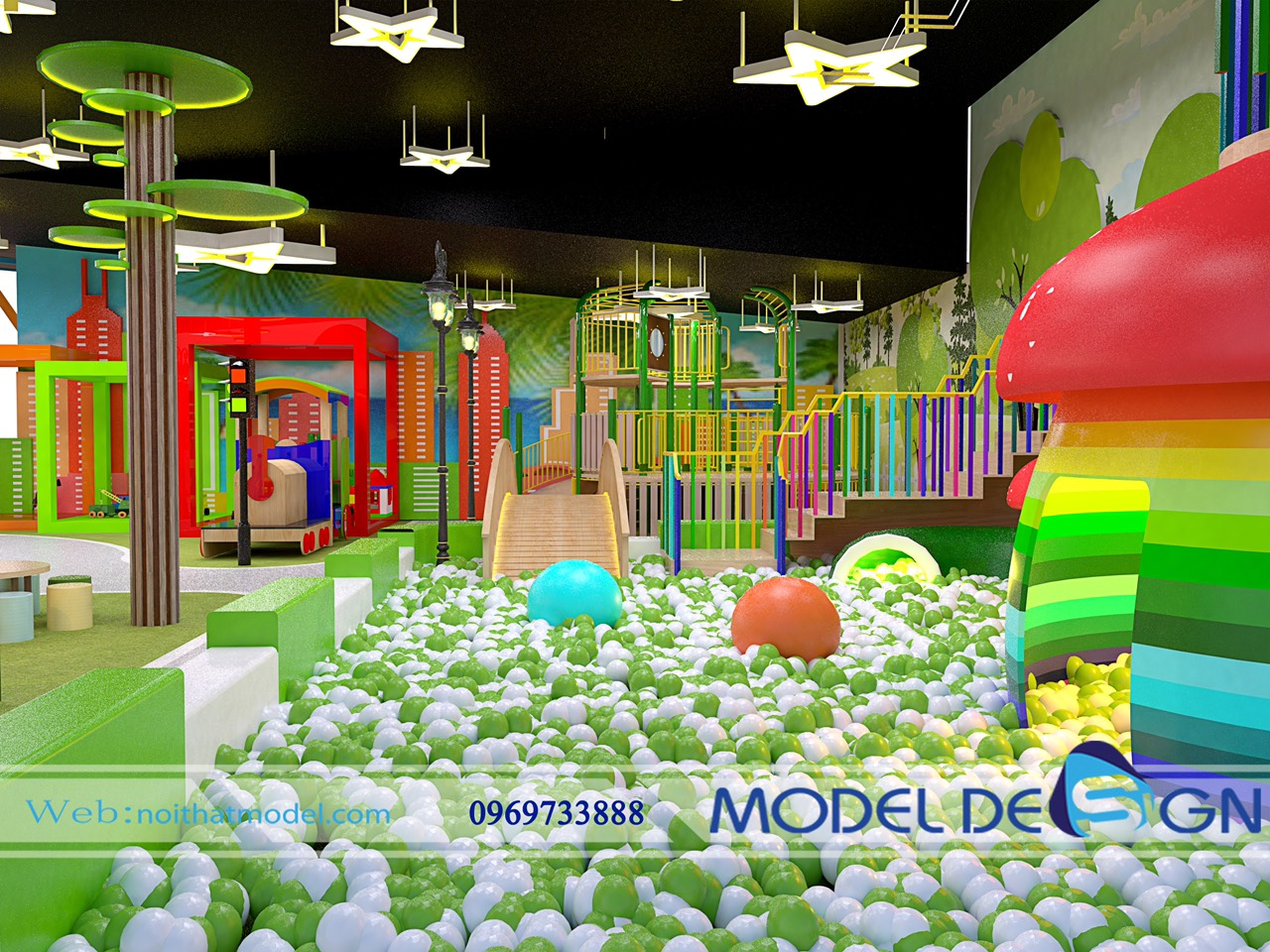 Xu hướng Đầu tư khu vui chơi trẻ em.